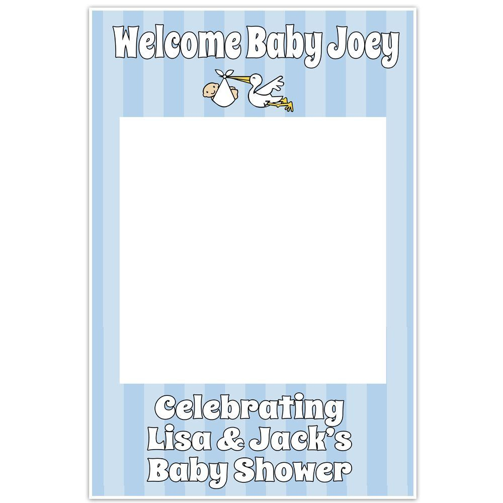 its a boy baby shower selfie frame cutout poster diy | Baby Shower ...