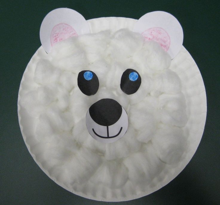 Polar Bear Paper Plate Craft ~a Lakeshore freebie & polar bear ideas preschool - Google Search | arts | Pinterest ...