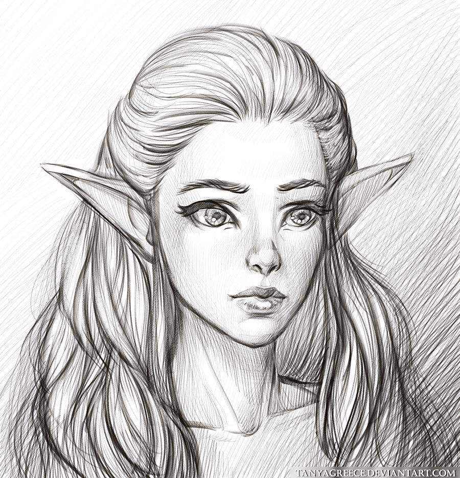 Inspirationofelves my new art pencil drawing
