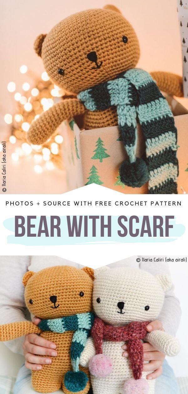 Cuddly Crochet Teddy Bears Free Patterns | Teddy bear ...