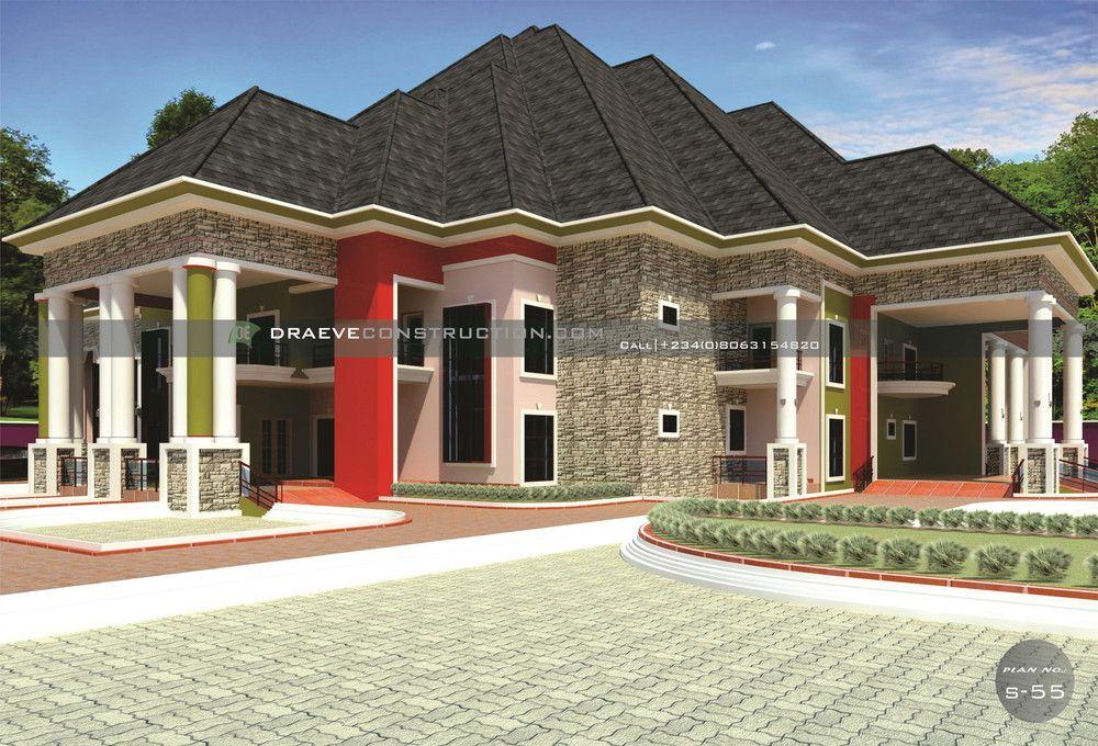 8 Bedroom Luxury Duplex House Plan Port Harcourt Duplex House Plans Duplex House Home Design Plans