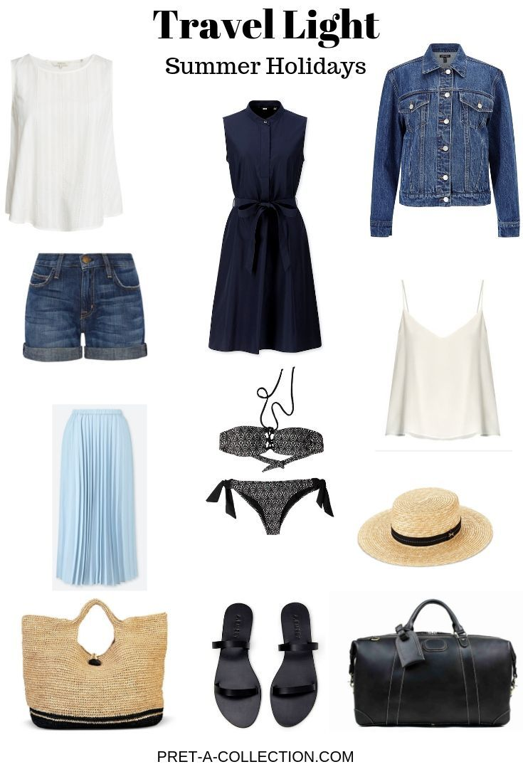 Travel Light: Summer Holidays #travelwardrobesummer