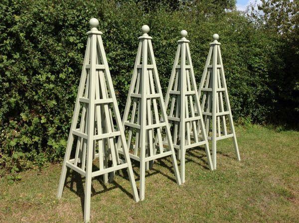 Wooden Obelisk Painted Garden Obelisks Gallery