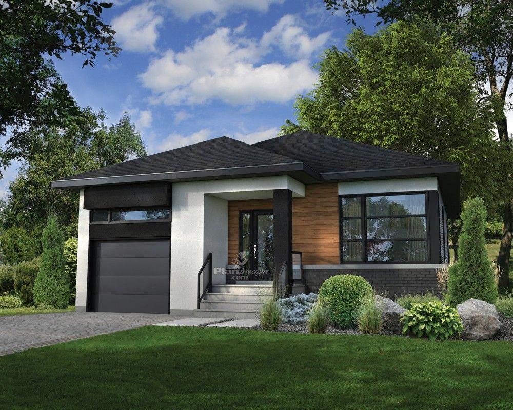 Cette Maison De Plain-pied De Style Urbain Se Démarque Par Ses Lignes Pures  Et