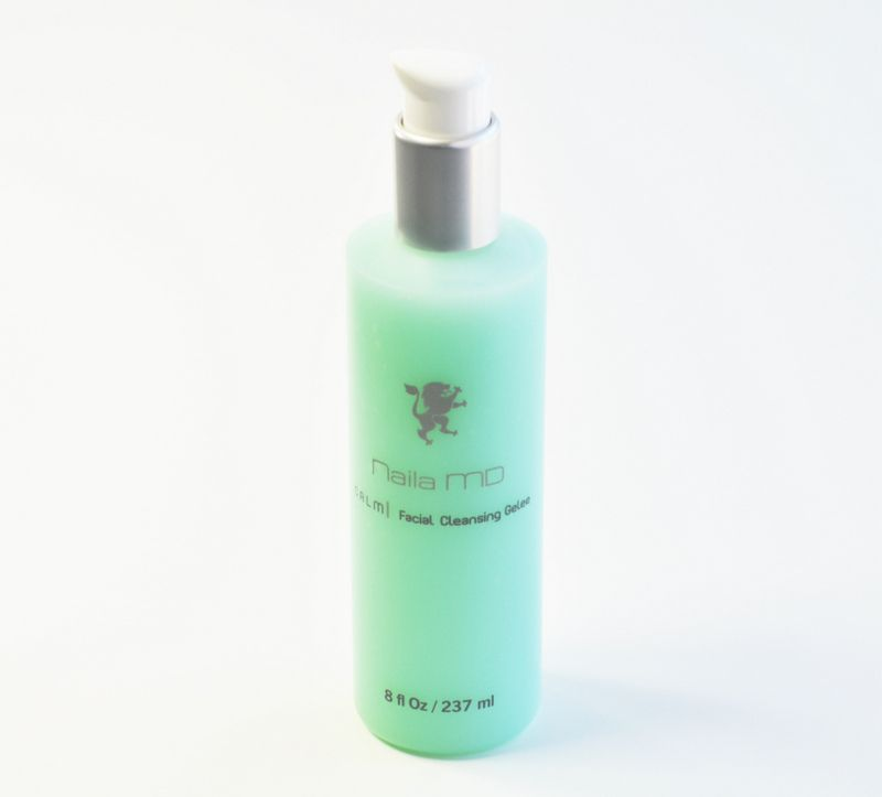 CALM | Cleansing Gelee is an extremely gentle but thoroughly cleansing facial cleanser and toner for sensitive skin and rosacea prone skin. Free of parabens, sulfates, artificial color and fragrance.  Made in USA, No animal testing  $29.95  click shop.nailamd.com to buy