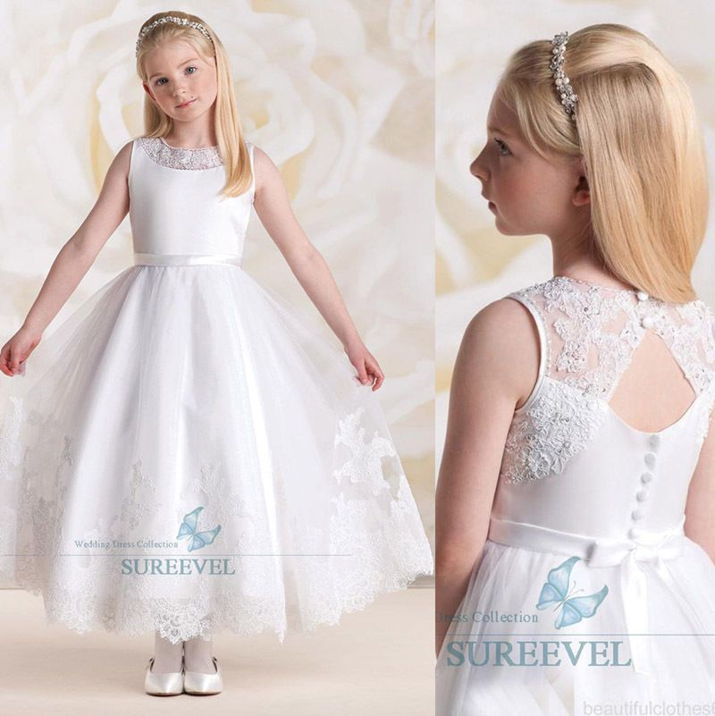 blanc robe de communion princesse fille mariage robe. Black Bedroom Furniture Sets. Home Design Ideas