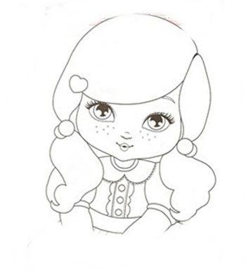 desenho para colorir jolie | muñecas jolie | Pinterest | Coloring ...