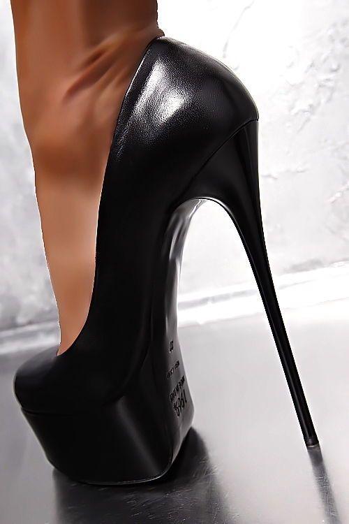 1969 ITALY LEDER HOHE PLATEAU Damen Stiletto High Heels ...