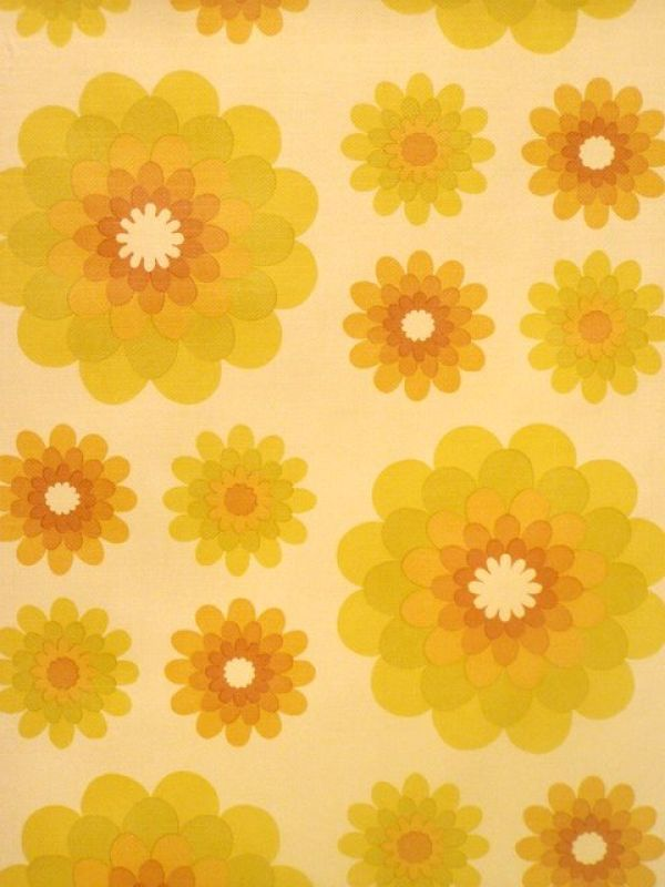 Original retro wallpaper  vinyl wallcovering from the sixties