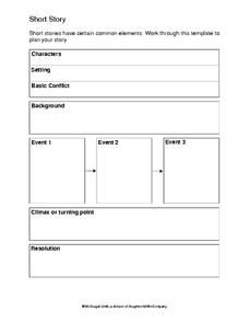Short Story Writing Template Worksheet  Wake Up Academic Lit