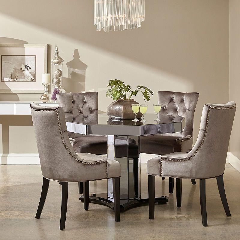 Chrome Dining Room Chairs: Chrome Velvet Side Chair In 2019