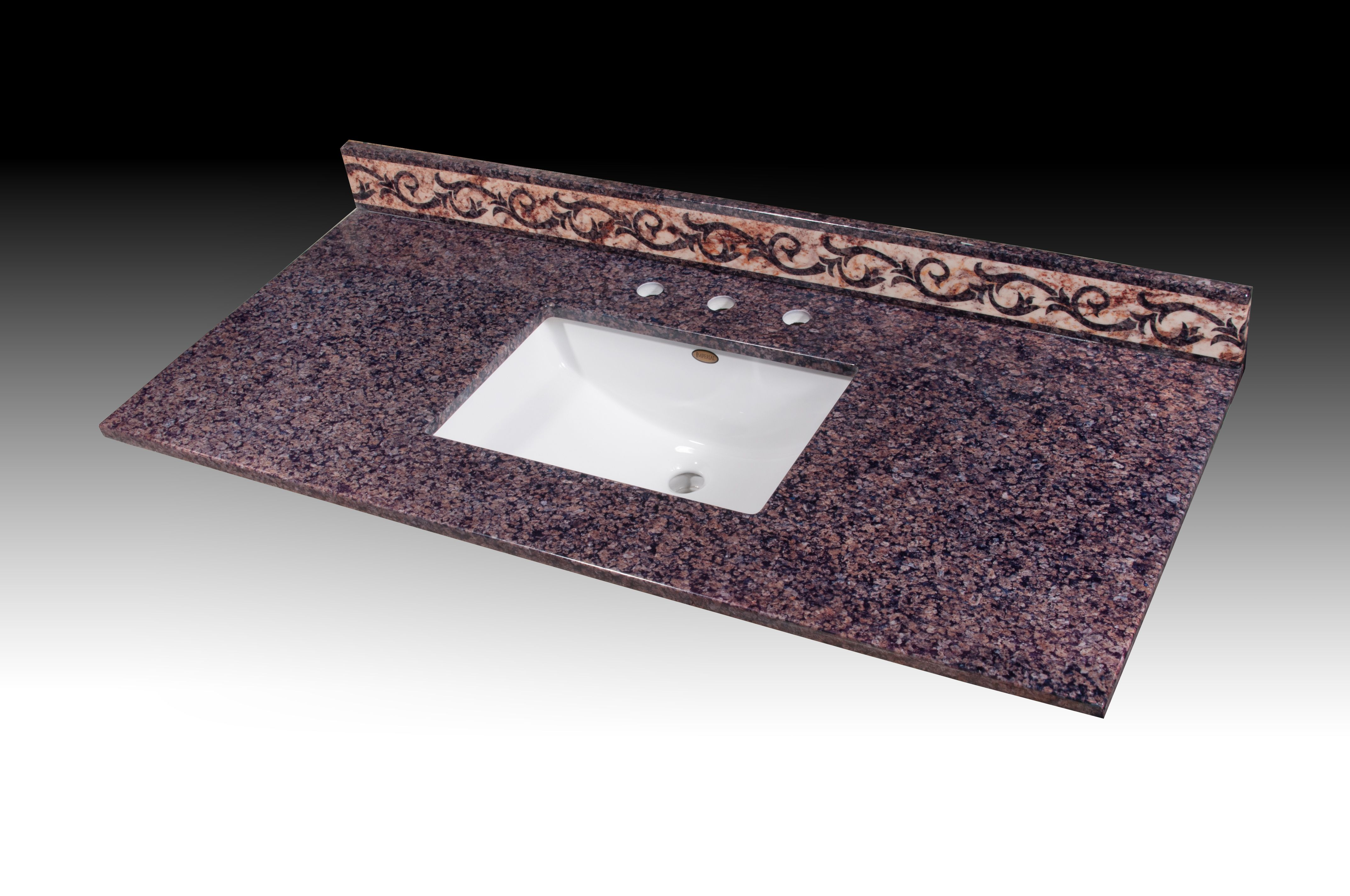 Tropical Brown Vanity Top with Walden Undermount bowl