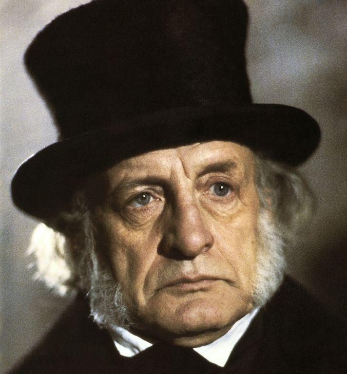 George C. Scott as Mr. Scrooge. | Christmas carol, Scrooge, Charles dickens christmas