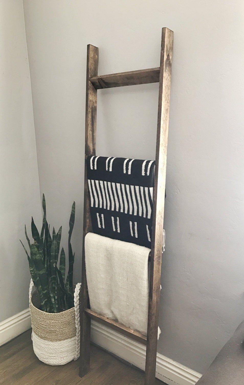 Blanket Laddertowel Rack Etsy Blanket Ladder Decor Ladder Towel Racks Blanket Rack