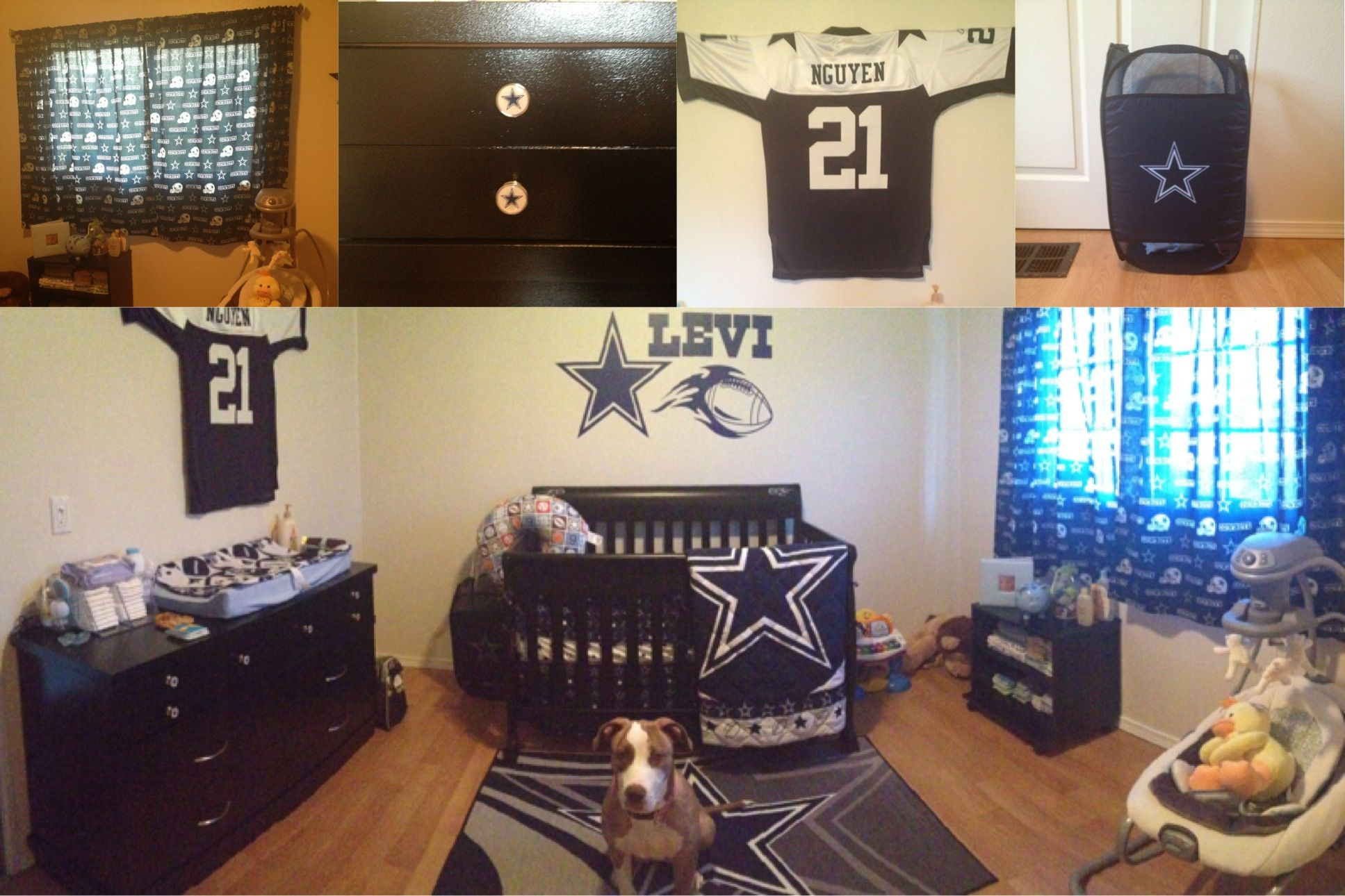 I Want Bro S Room To Look Like This Dallas Cowboys Baby Nursery Already Have The Bedding Set