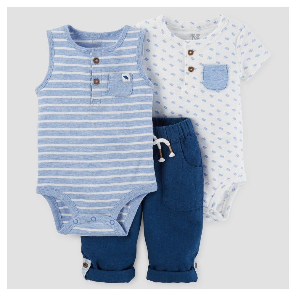f4aa4decb7b5 Just One You Made by Carter s Baby Boys  3pc Bodysuit and Pant Set ...