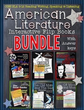 American Literature Guides Flip Books Bundle Teaching Lessons And