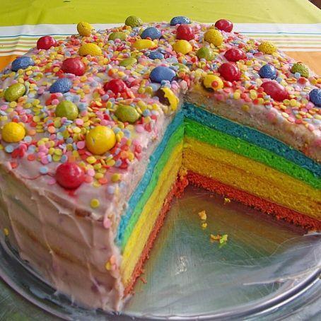Regenbogen Torte 4 5 Rezept Regenbogentorte Leckere Torten Geburtstagskuchen Backen