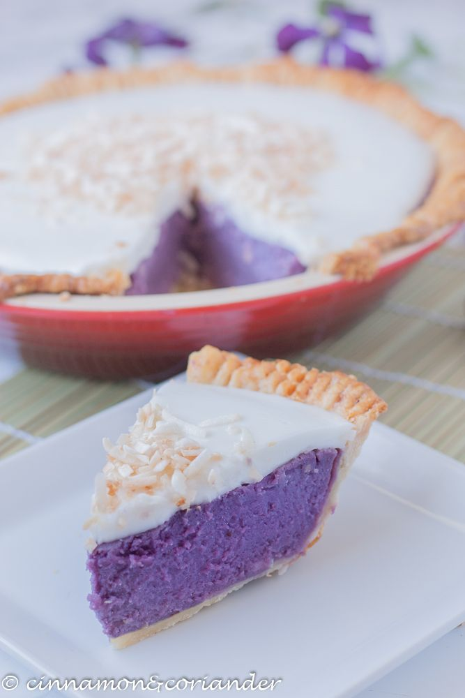 Purple Sweet Potato Pie With Coconut Topping Haupia Recipe