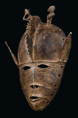 Senufo Oder Dioula Elfenbeinkuste Eine Metall Maske Vom Typ