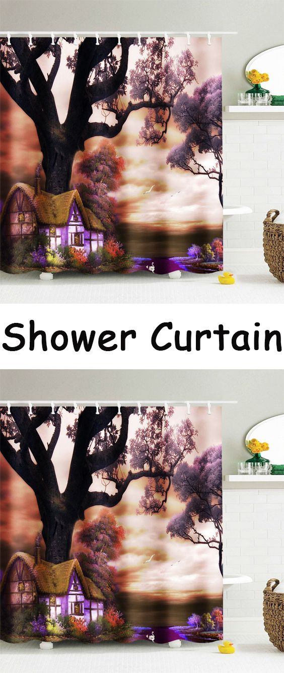 The Dreamy Yard Waterproof Fabric Shower Curtain