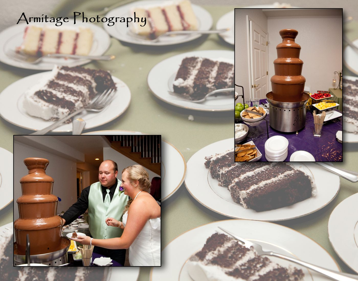 A chocolate fountain for guests.  At Lionscrest Manor.