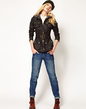 Barbour Ladies International Jacket in Black