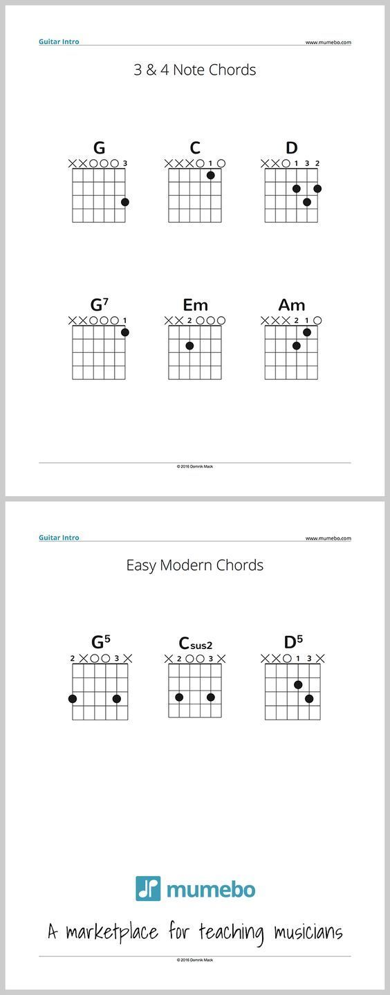 Free Pdf Sample For Guitar Teachers Simple Chords For A First