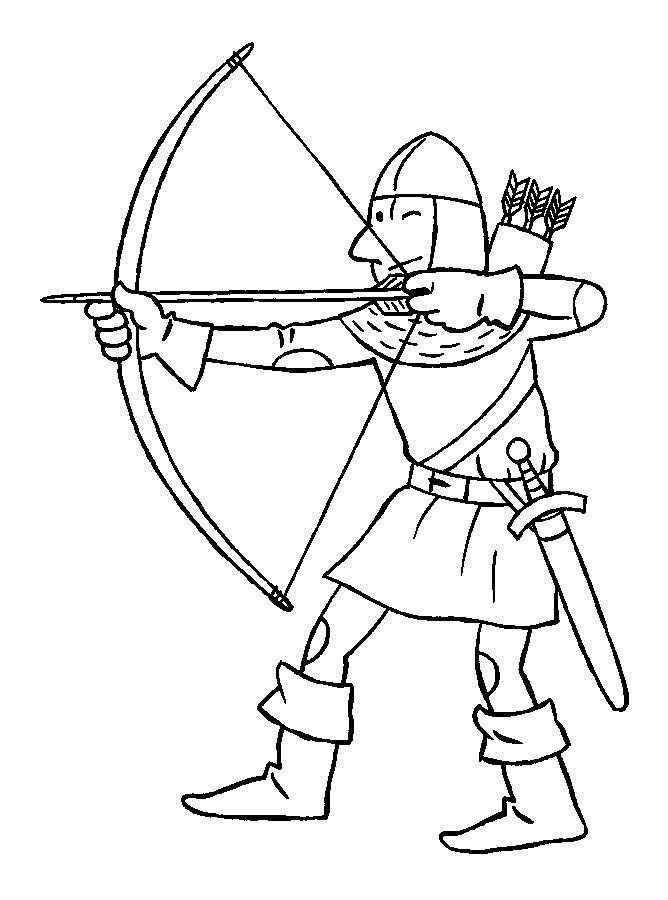 Knights Learn Archery Coloring Pages For Kids Dt1 Printable Castles And Knights Coloring Pages F Coloring Pages Coloring Pages For Kids Shark Coloring Pages