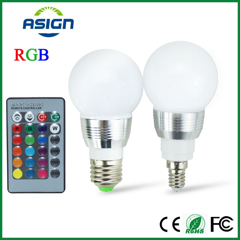 E27 Led Spot E27 Led Rgb Bulb Lamp Ac110v 220v 3w E14 Spot Light Dimmable Magic