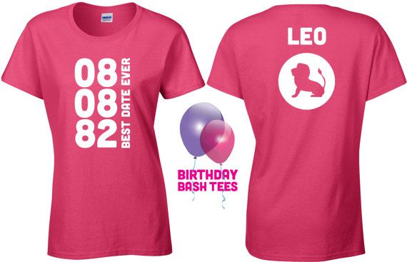 Leo Shirt Zodiac Sign Custom Birthday By BirthdayBashTees