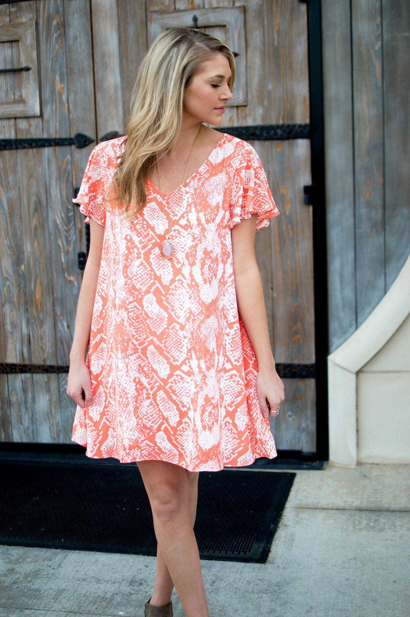 Ciara Snakeskin Dress