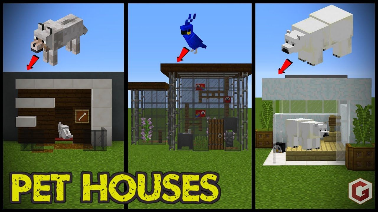 29 Minecraft Pet (Animal) House Designs! todays minecraft