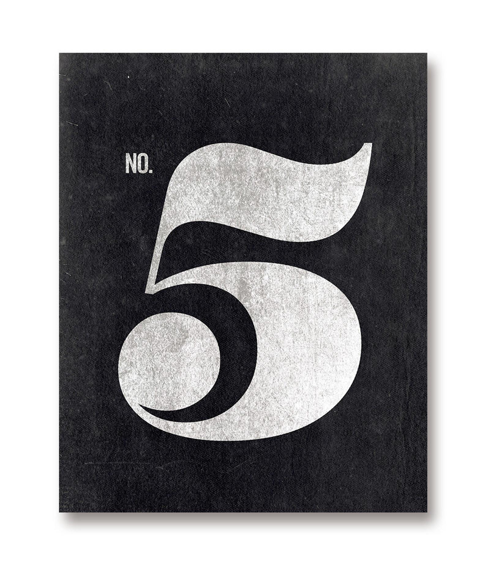 Number 5 Print Number 5 Sign Printable Art Scandinavian Etsy In 2020 Numbers Typography Printable Art Typography Prints