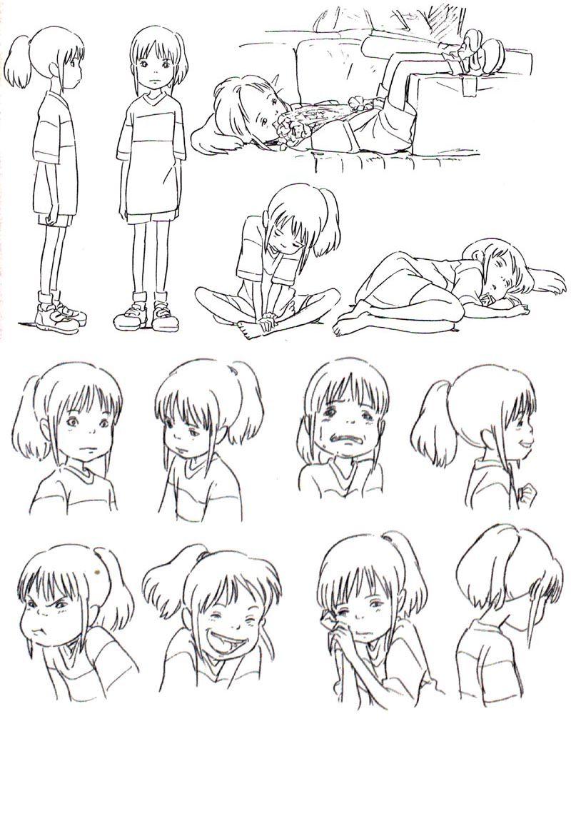 Spirited Away - Chihiro - Reference für drawing a child   Chihiro ...