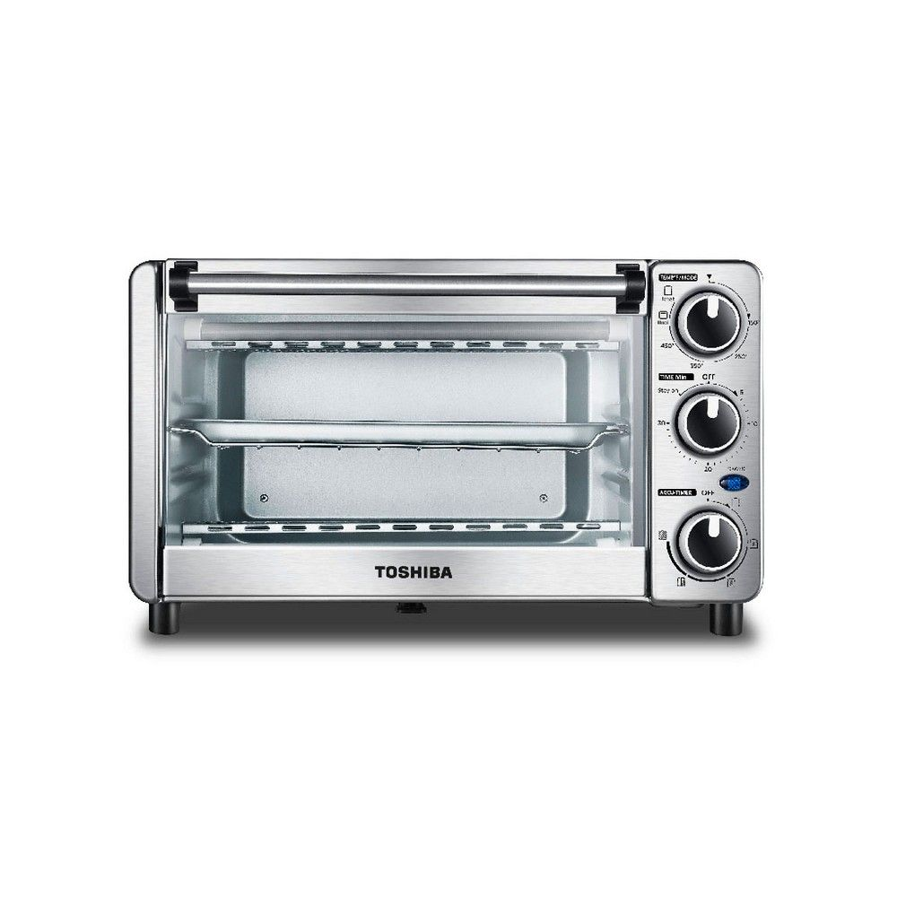 Toshiba Mc25cey Ss 6 Slice Small Convection Pizza Toaster Oven