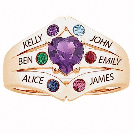 Jewelry Mothers day rings, Mother rings, Birthstones