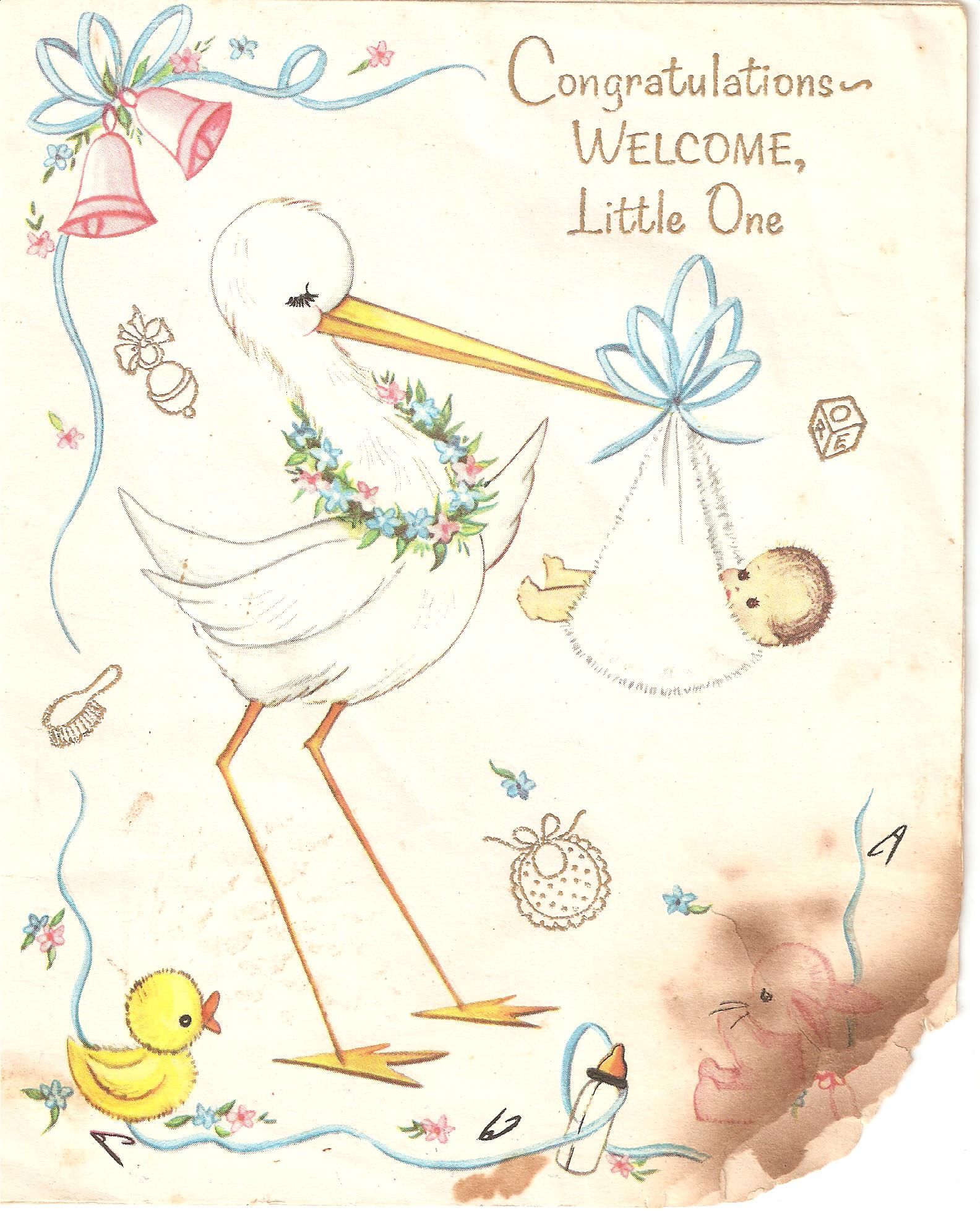 Baby greeting card circa 1960s new baby greetings pinterest baby greeting card circa 1960s kristyandbryce Gallery