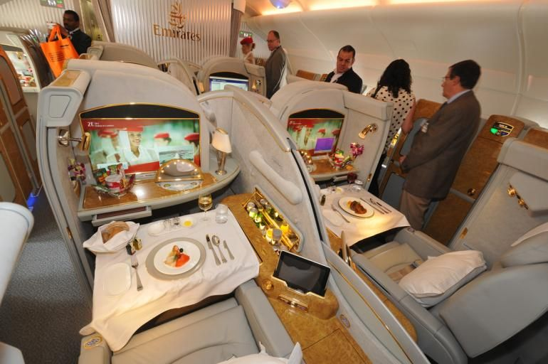 First Class Flight Emirates Airbus Airbus A380 Airbus