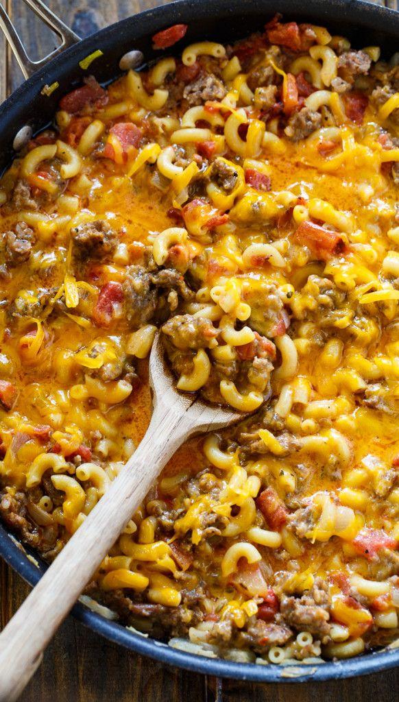 Stovetop Sausage Mac and Cheese