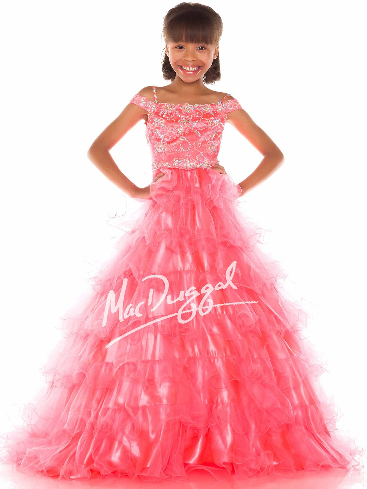 Sugar Girls Pageant Dress 48161s Sizes 8 and 12 Neon Coral and ...