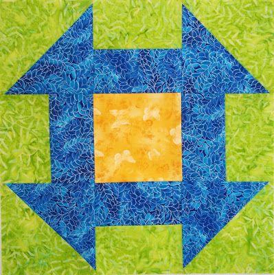 Chock-A-Block Quilt Blocks: Churn Dash