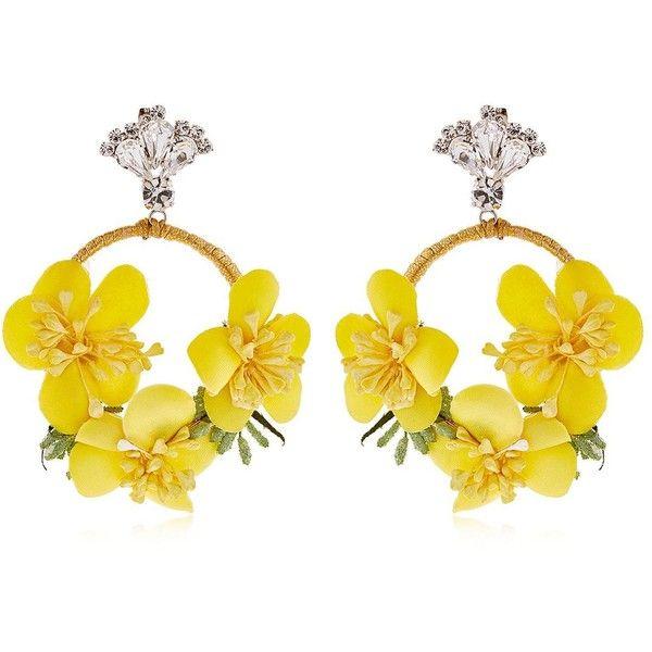 Vanina Women The Douma Garden Hoop Earrings 950 Sar Liked On Polyvore Featuring Jewelry Yellow Swarovski Crystal