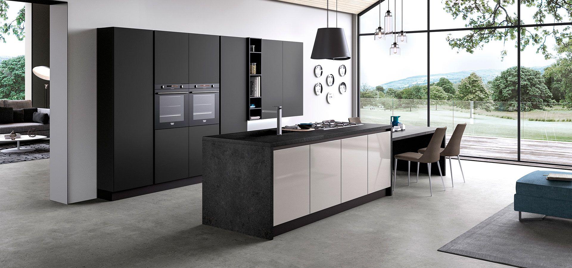 Ante Vetro Cucina cucina moderna design ante in vetro lucido opaco - glass