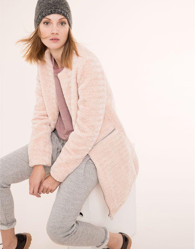 Abrigo mujer palo de rosa