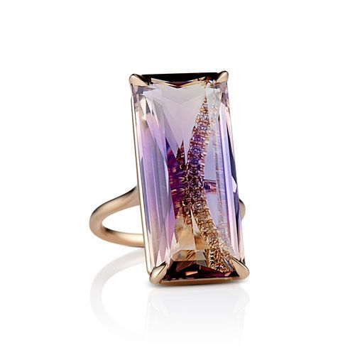 AMETRINE COCKTAIL RING IN ROSE GOLD