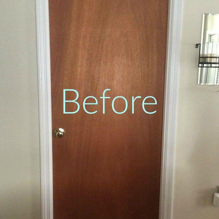 12 Clever Tricks To Turn Builder Grade Doors Into Custom Made Beauties Door Makeover Builder Grade Diy Door
