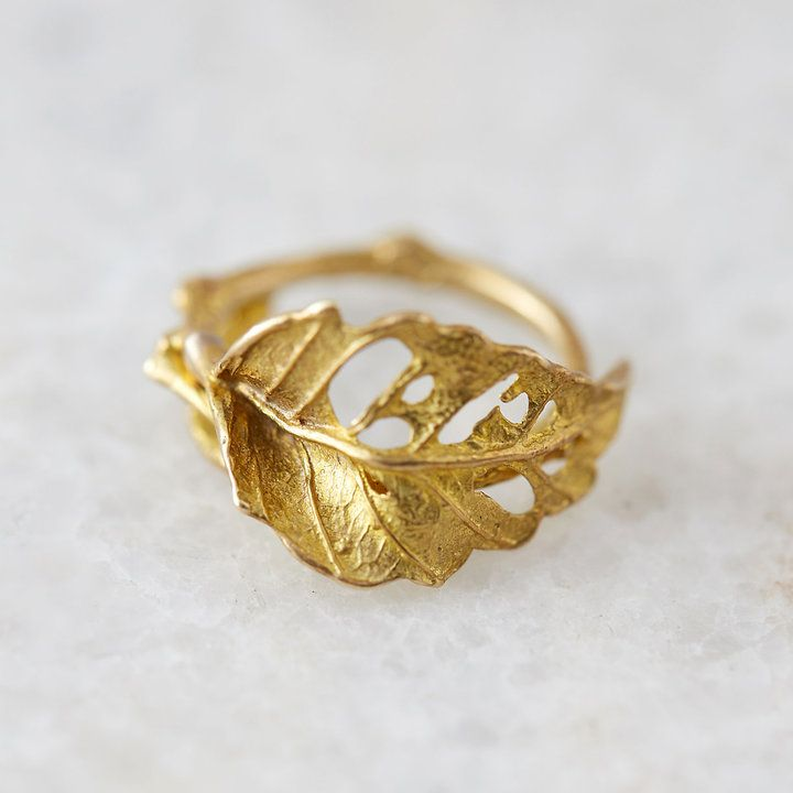 birthday fashion for item simple jewelry female leaves shuangshuo rings engagement ginkgo leaf ring women gift