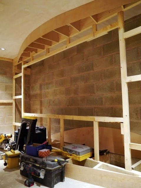 Home Theater Screen Wall Construction Pinteres