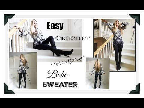 eee8aed24718 CROCHET Open Mesh BIG T Pullover Sweater